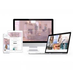 Estela's unique single page website promoting her Sonoma salon