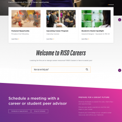 RISD Careers homepage