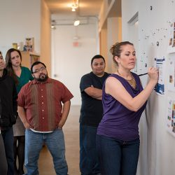 Even our walls are magnetic, allowing for conversations to help refine and create the best work.